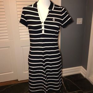 Black & white stripes sports dress